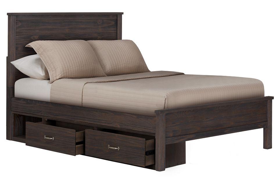 Highlands Dark Tone  Panel Storage Bed