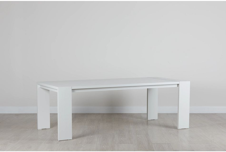 "Linear White 87"" Rectangular Table"