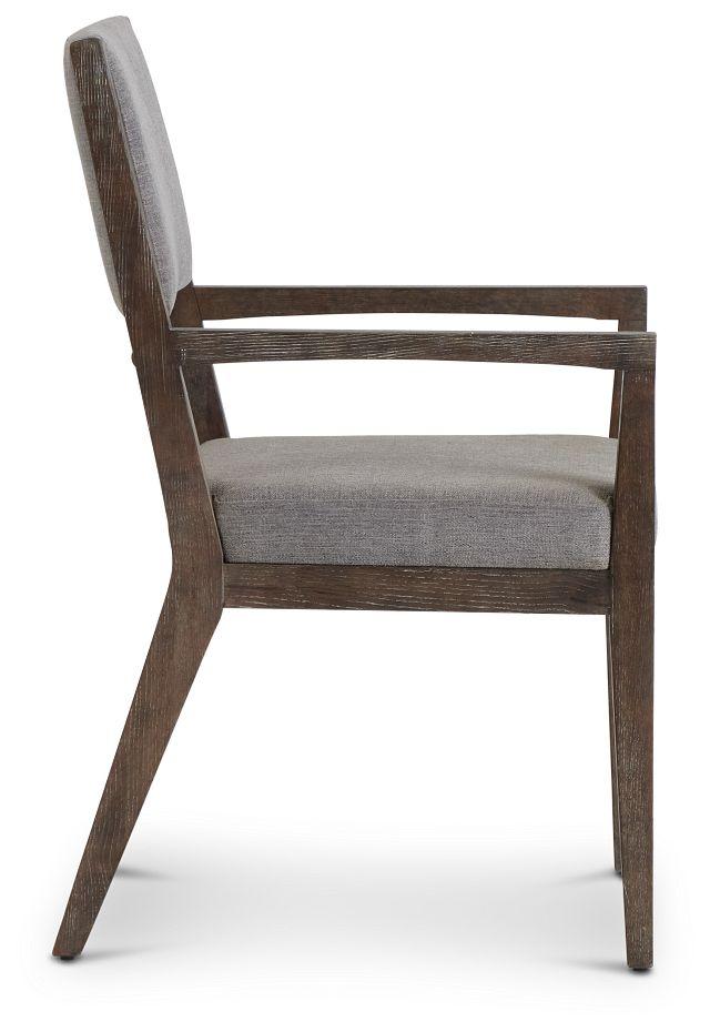 Linea Dark Tone Arm Chair (2)