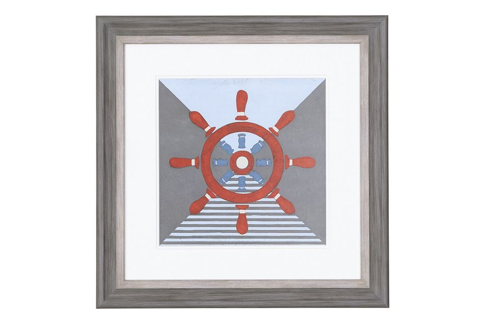 Helm Red Framed Wall Art