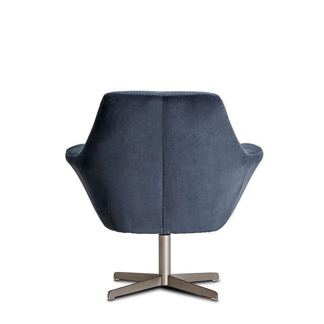 Xander Dark Gray Velvet Swivel Accent Chair (3)