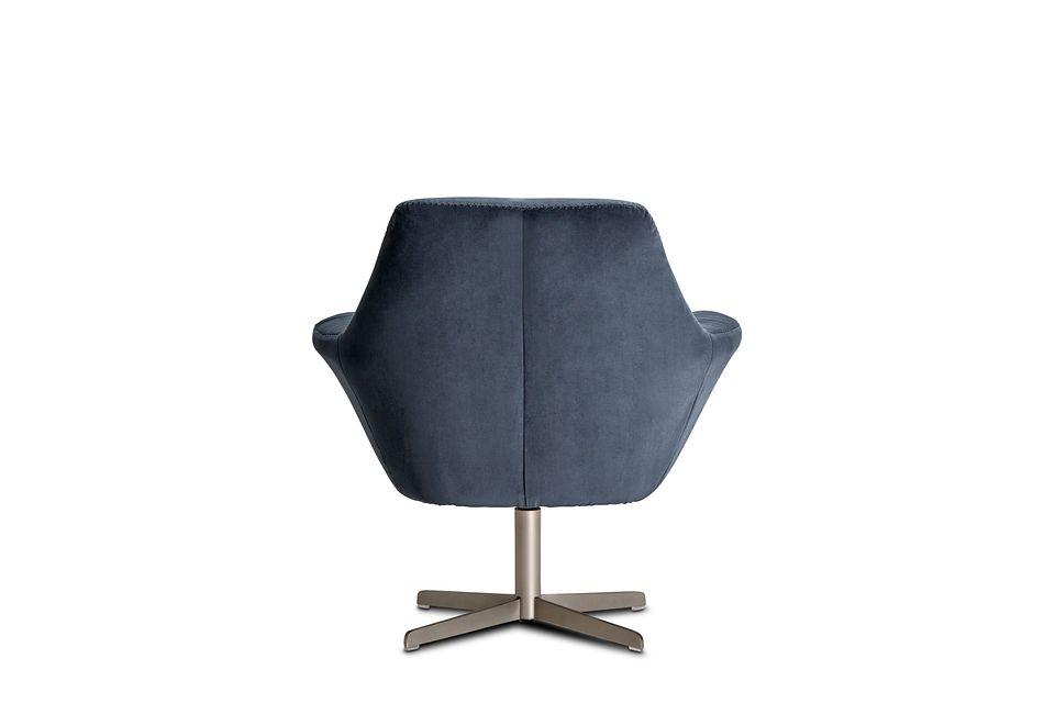 Xander Dark Gray Velvet Swivel Accent Chair