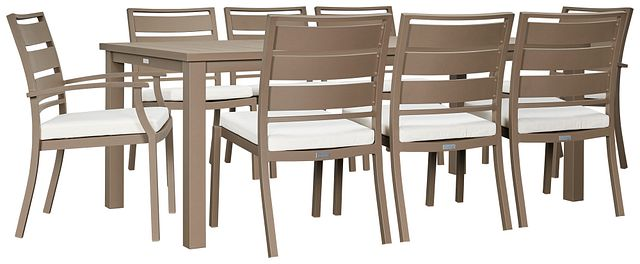 """Raleigh White 81"""" Rectangular Table & 4 Cushioned Chairs (0)"""