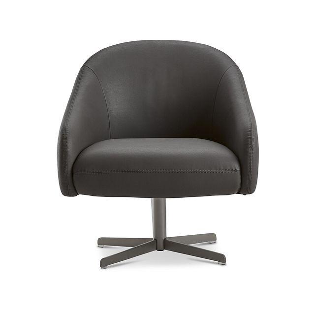 Frankie Dark Gray Swivel Accent Chair (3)