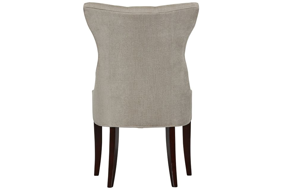 Deco Light Gray Upholstered Side Chair