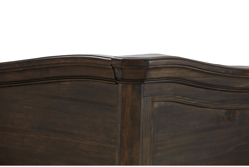Bellamy Dark Tone Arched Panel Bed