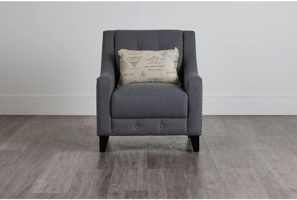 Hutton Dark Gray Fabric Chair,  (0)