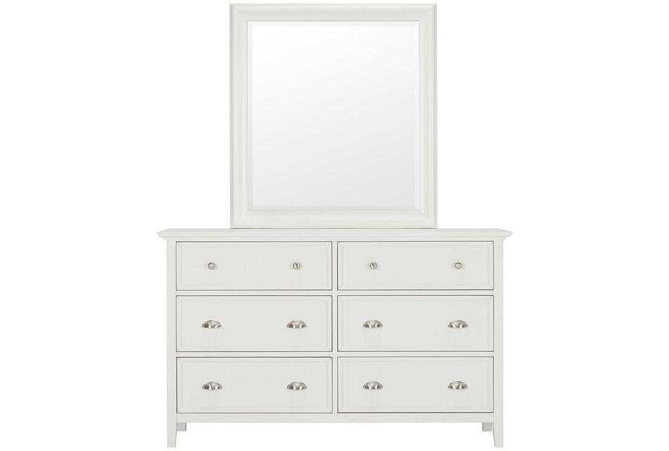 Spencer White Dresser & Mirror