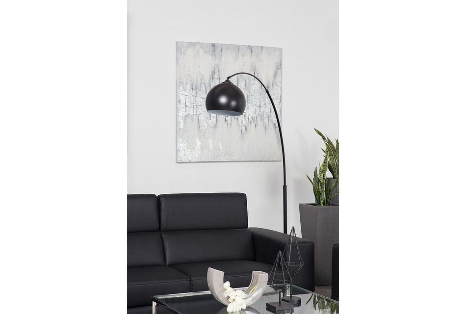 Imanni Black Arc Floor Lamp