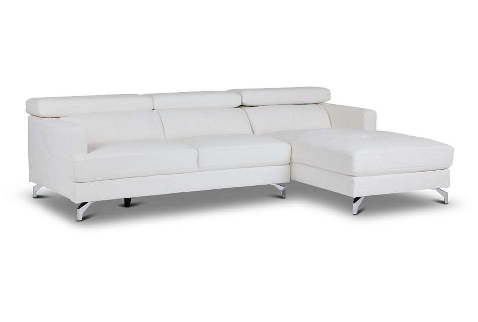 Marquez White Micro Right Chaise Sectional,  (1)