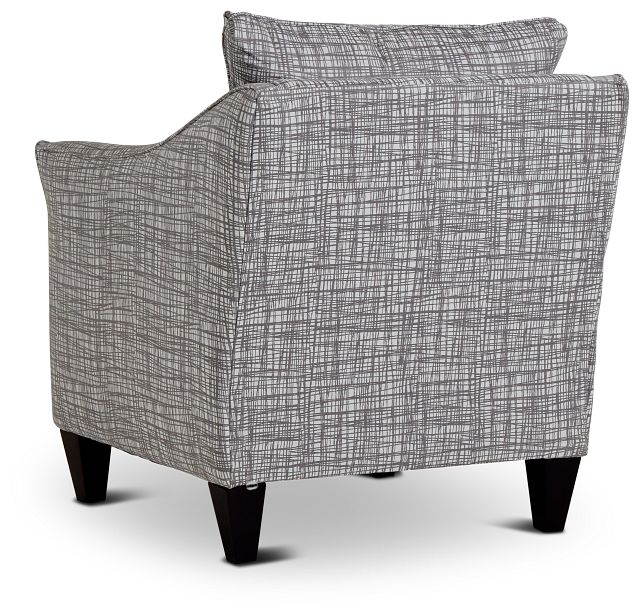 Hugo Gray Fabric Accent Chair
