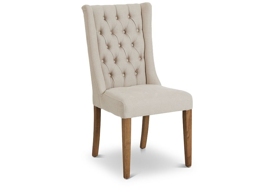 Camilla Beige Upholstered Side Chair,  (1)