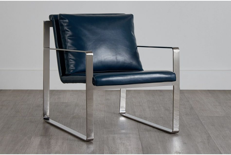 Roslin Blue Uph Accent Chair,  (0)