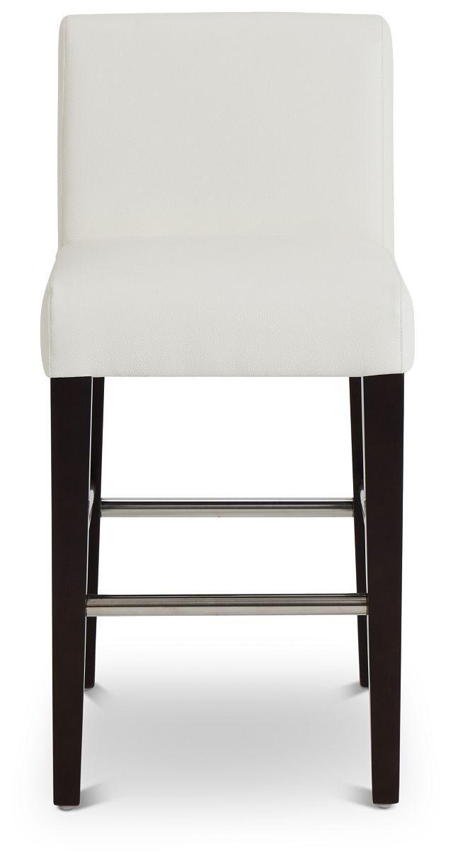"Cane Whitemicro 24"" Upholstered Barstool (3)"