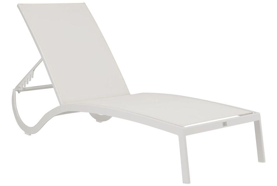 Lisbon2 White Sling Chaise,  (1)