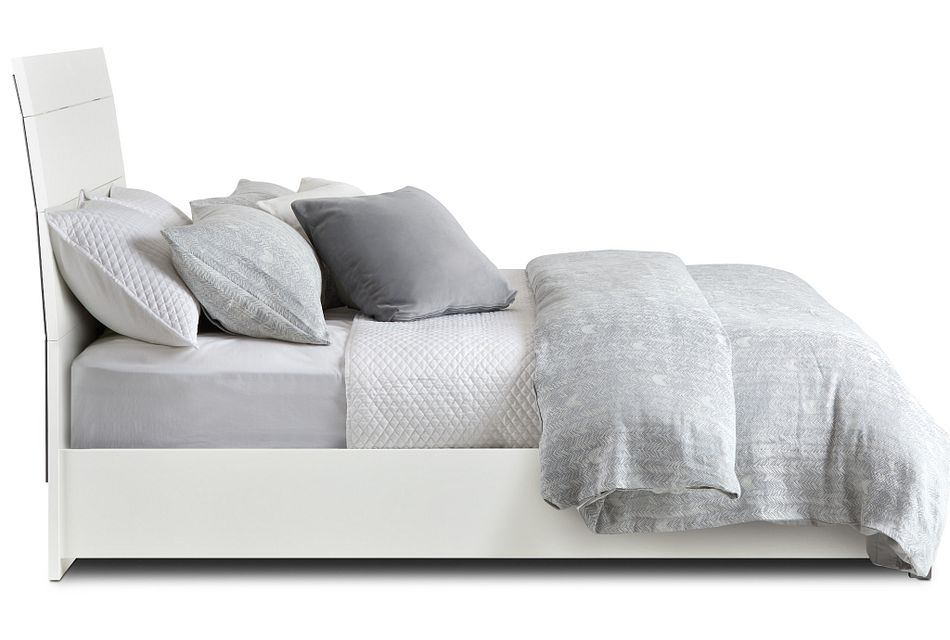 Oslo White Platform Bed