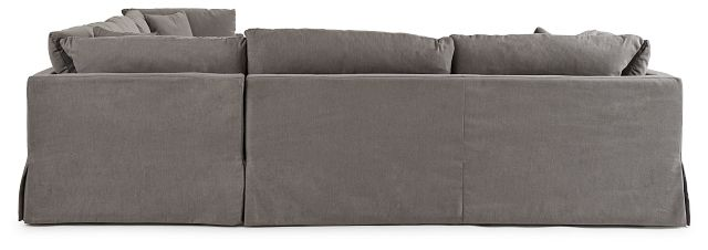 Raegan Gray Fabric Large Right Chaise Sectional (1)