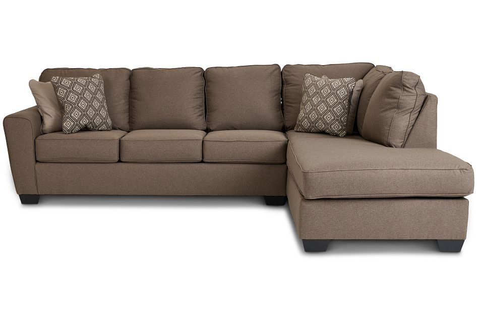 Calicho Dark Taupe Micro Right Chaise Sectional,  (3)