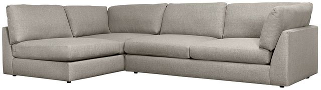 Harper Gray Fabric Small Right Arm Sectional (0)
