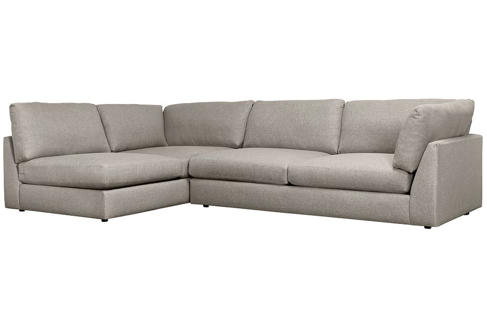 Harper Gray Fabric Small Right Arm Sectional
