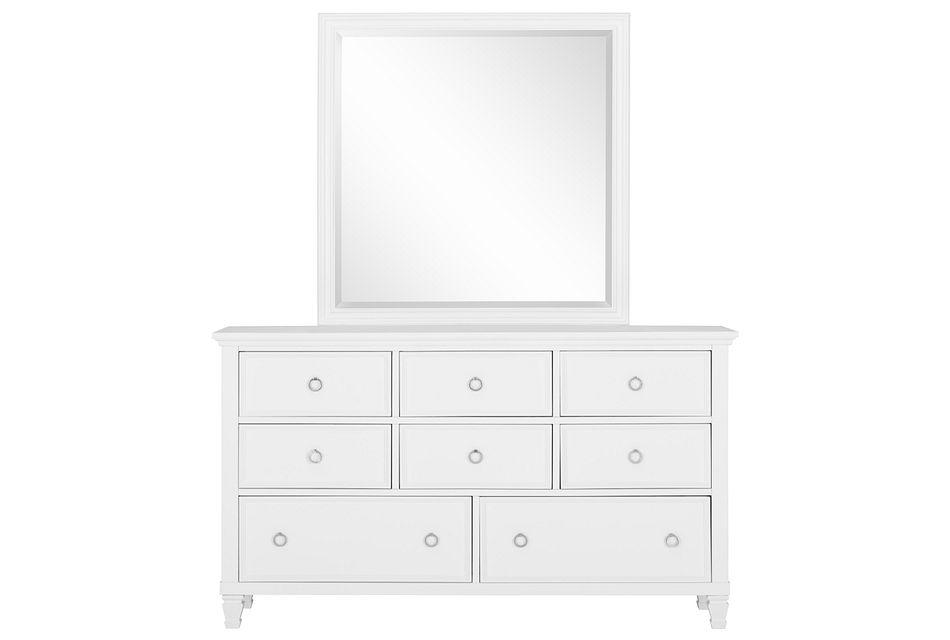 Tamara White  Dresser & Mirror,  (0)