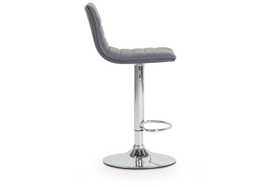 Motivo Gray Uph Adjustable Stool,  (2)