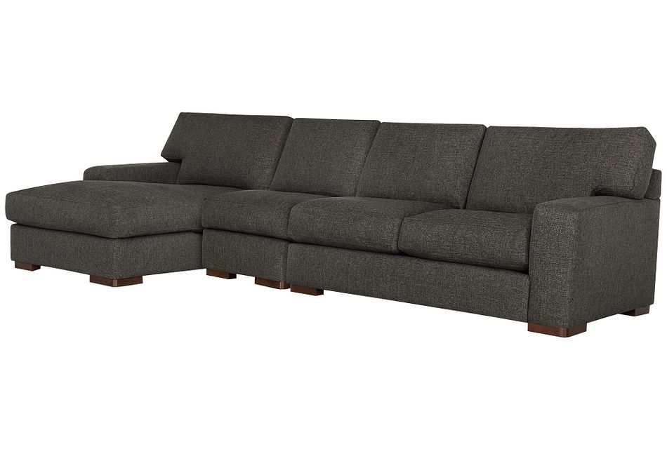 Veronica Dark Brown Down Small Left Chaise Sectional