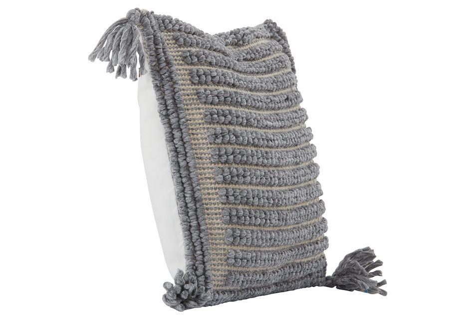 """Betsi Gray 22"""" Accent Pillow"""