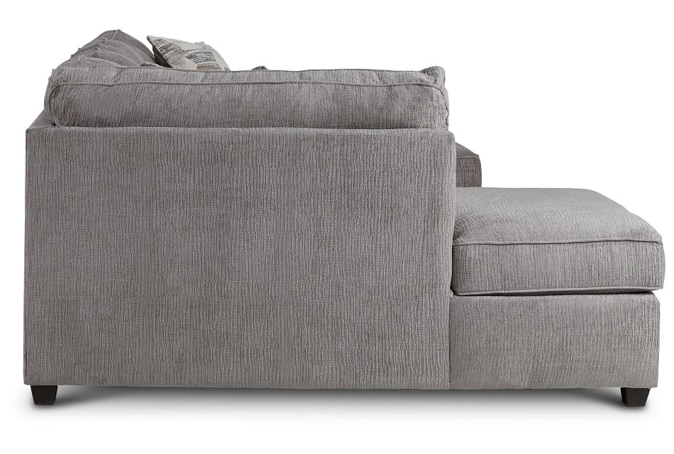 Millie Gray Fabric Sectional,  (3)