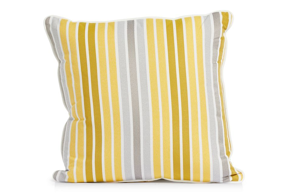 """Spring Yellow 18"""" Indoor/outdoor Square Accent Pillow"""