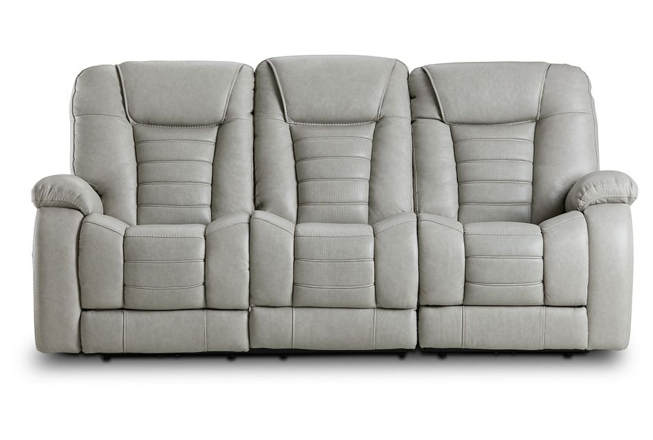 Bradley Gray Lthr/vinyl Power Reclining Sofa