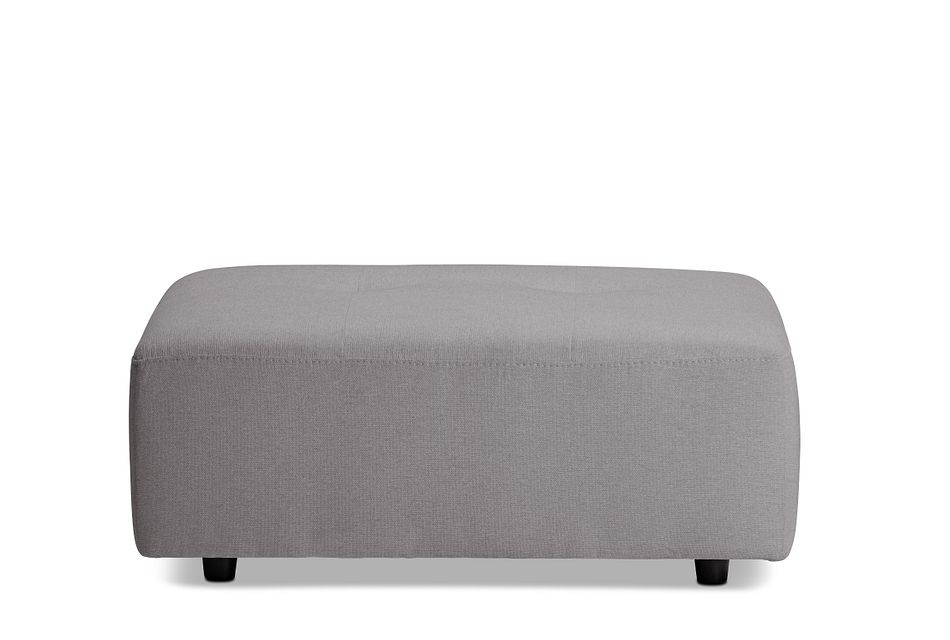 Trice Light Gray Fabric Ottoman