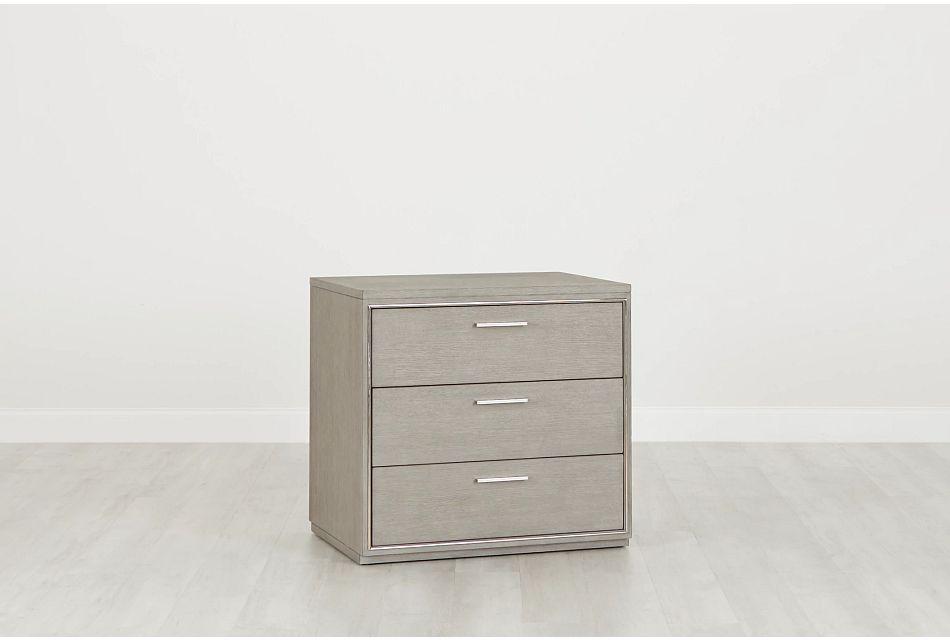 Highline Gray Drawer Cabinet