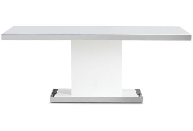 """Miami White 78"""" Rectangular Table"""