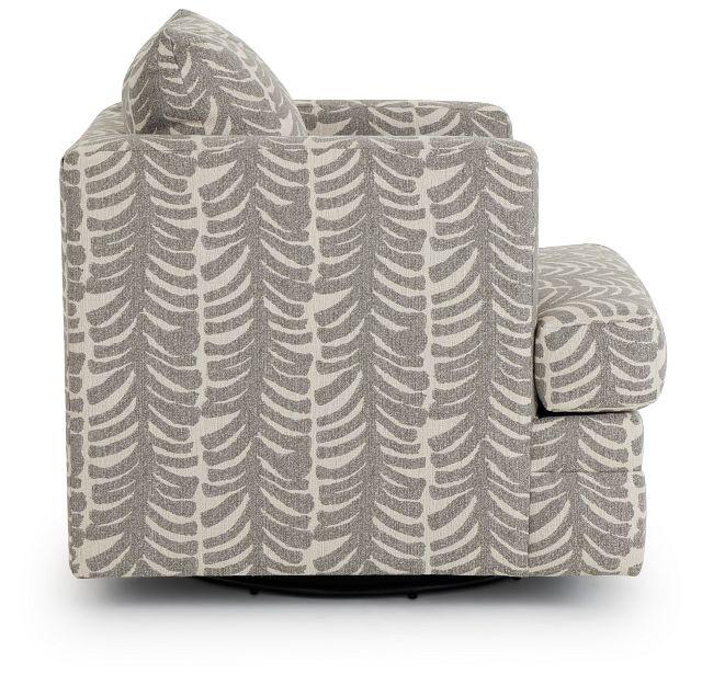 Bianca Gray Fabric Swivel Accent Chair (2)