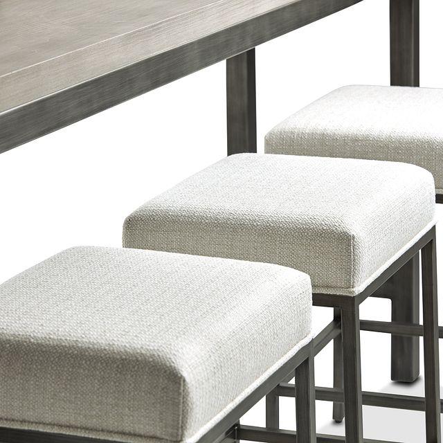 Zephyr Gray High Table & 3 Barstools (3)