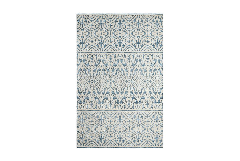 Milly Blue Poly Blend 5x8 Area Rug