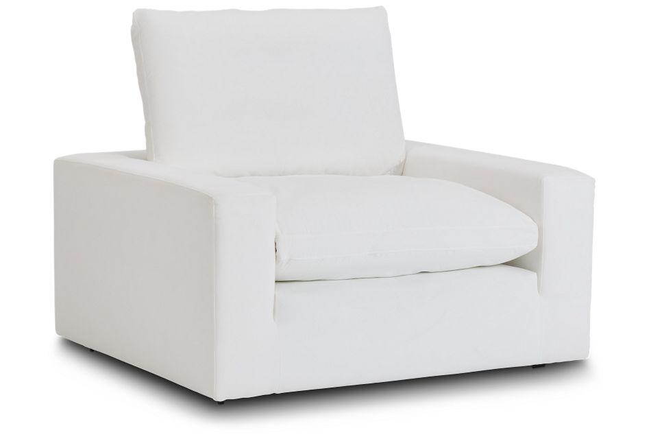 Nixon White Fabric Chair,  (1)