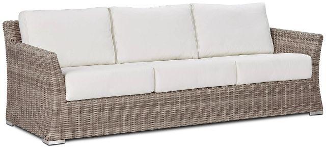 Raleigh White Woven Sofa (1)