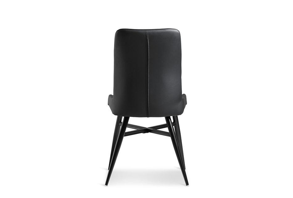 Lemans Black Upholstered Side Chair