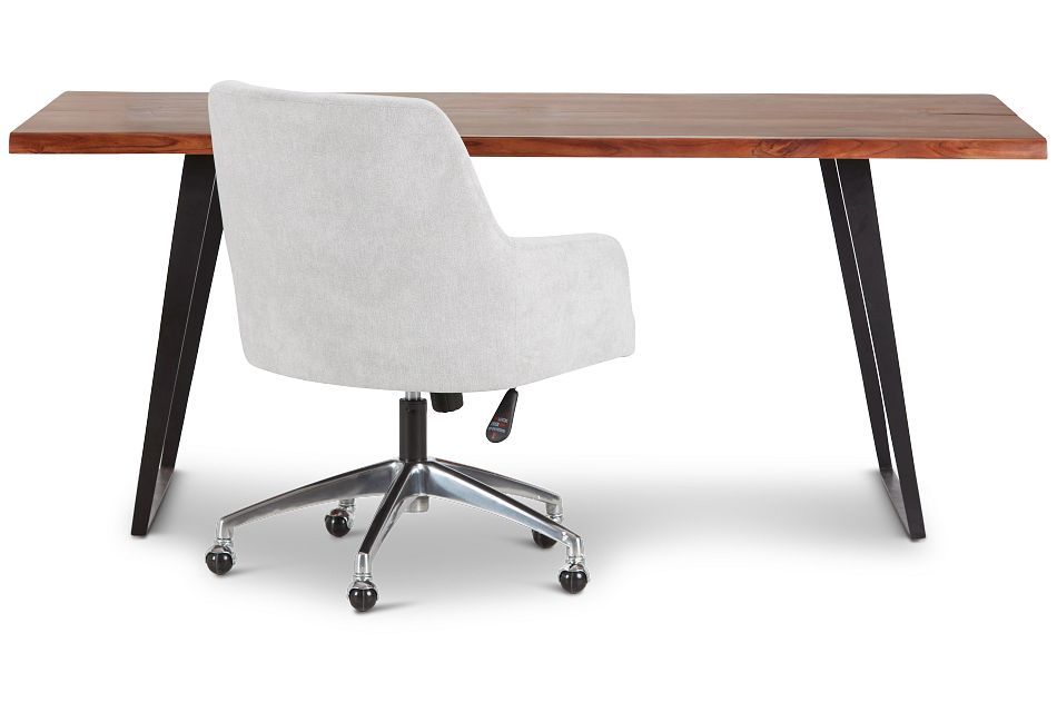 Shiloh Mid Tone Wood Desk And Chair