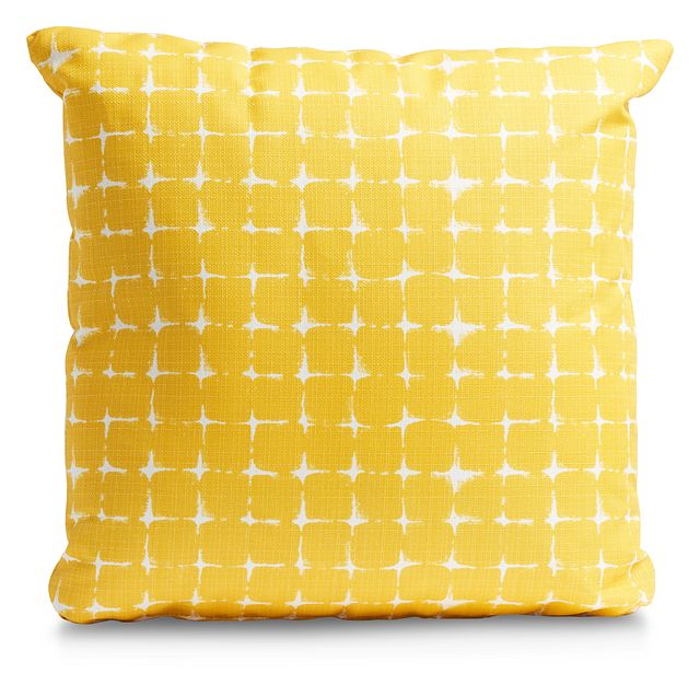 """Neptune Yellow 20"""" Indoor/outdoor Accent Pillow (0)"""
