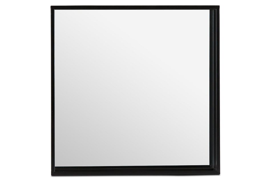 Elko Black Square Mirror