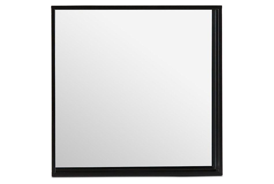 Elko Black Square Mirror