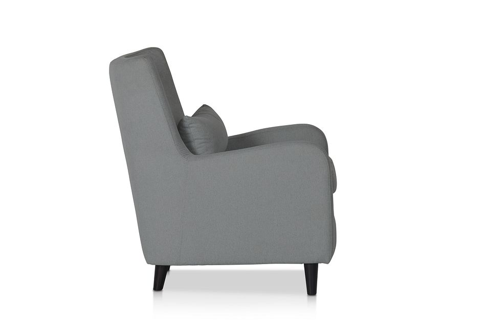 Fremont Gray Fabric Accent Chair