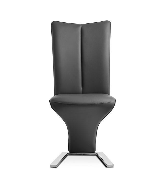 Catalina Dark Gray Upholstered Side Chair (3)