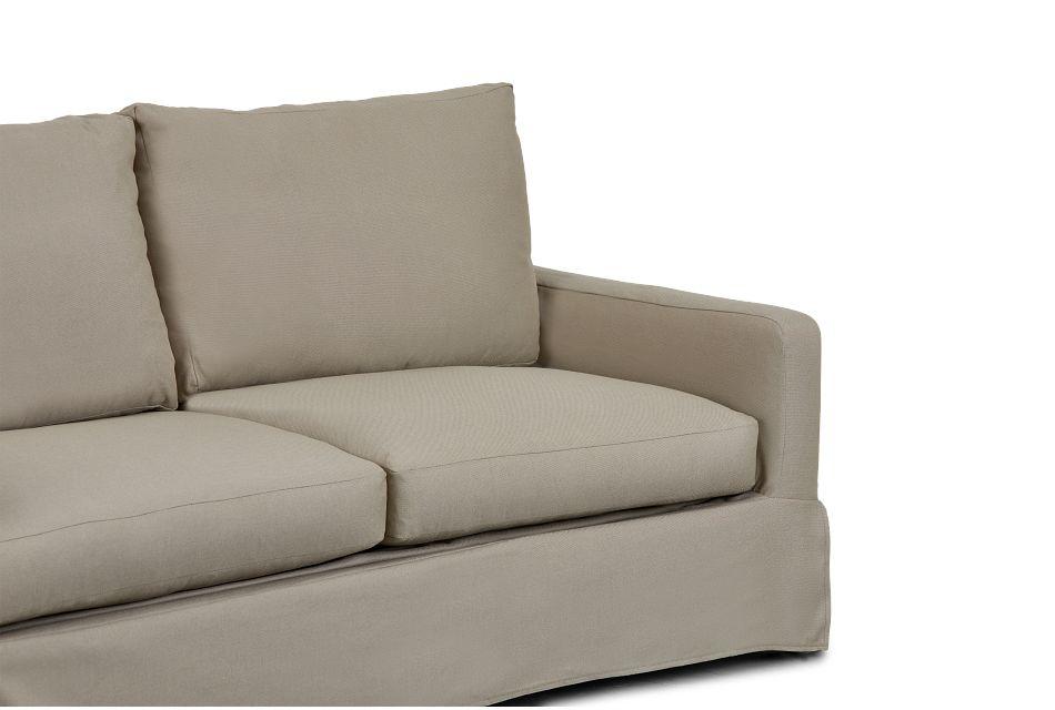 Bree Khaki Fabric Memory Foam Sleeper