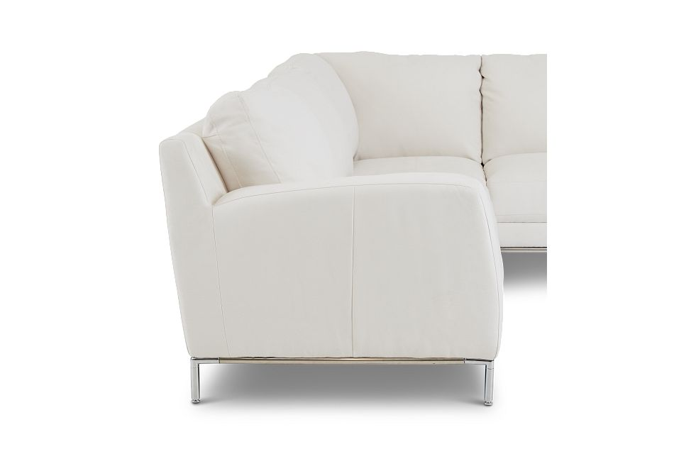 Wynn White Micro Right Chaise Sectional,  (1)