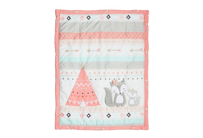 Spirit Pink 3 Piece Crib Bedding Set