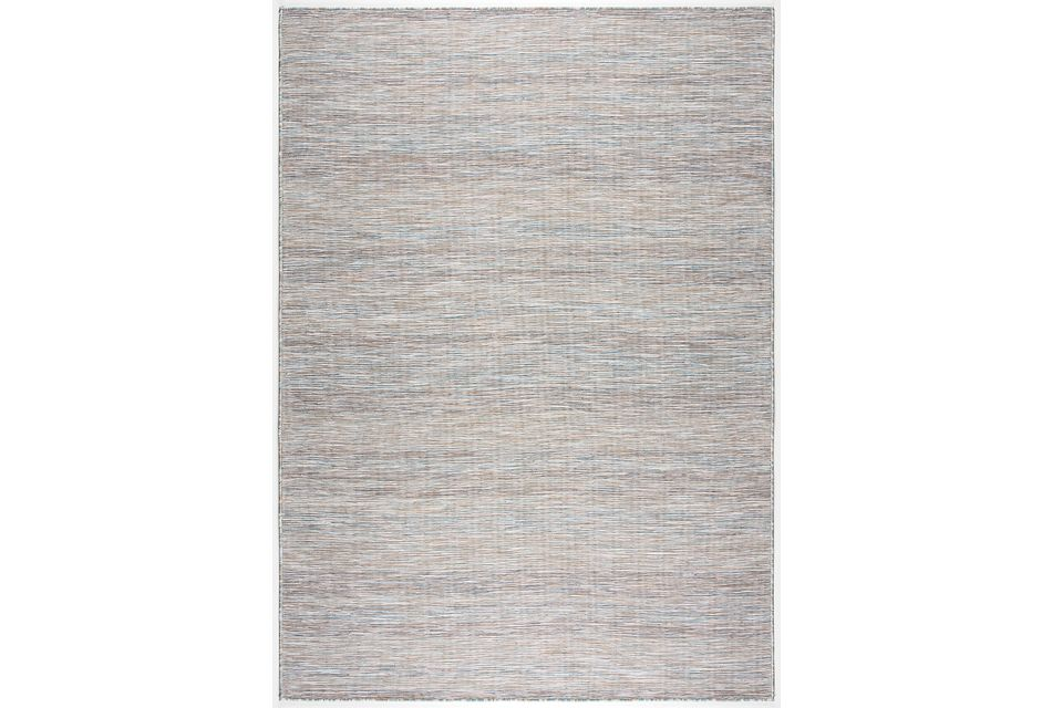 Alloha Blue In/out 3x4 Area Rug